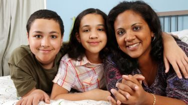 Foster carer and foster children