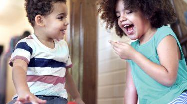 Foster children playing