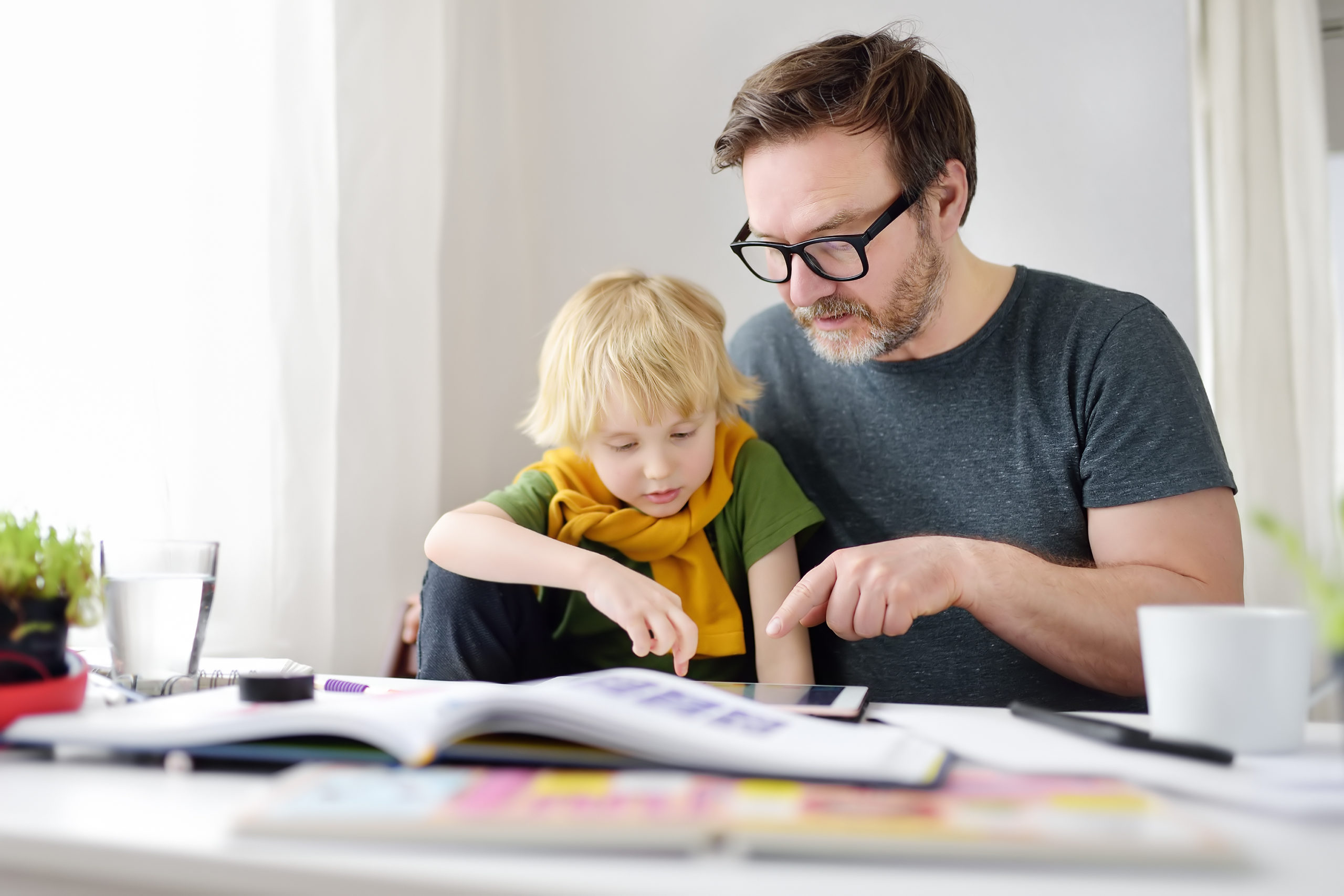 A foster carer working with a child with ADHD